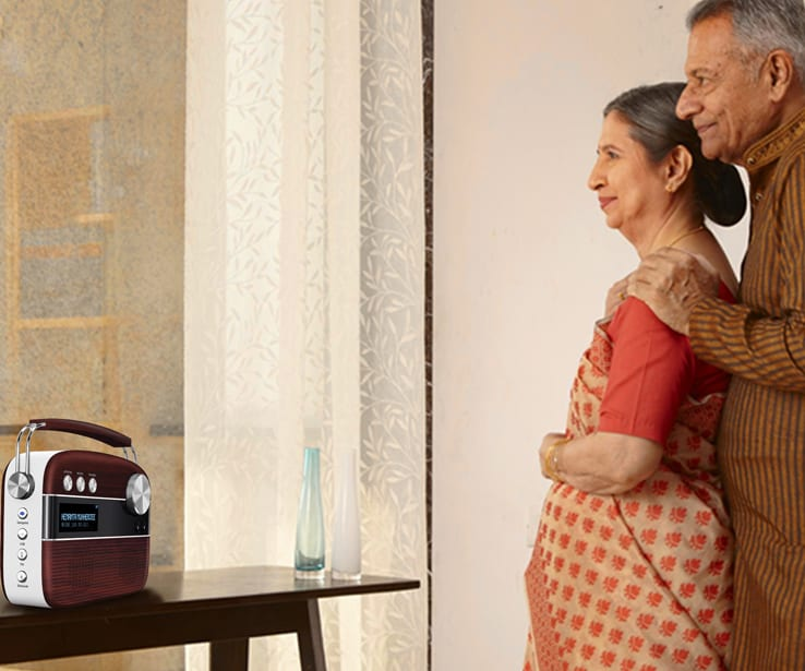grandparents listening to saregama carvaan bengali music