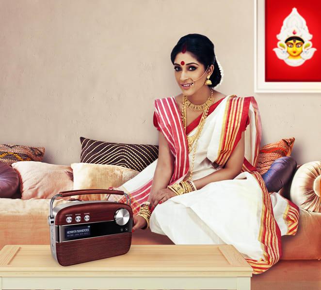 bengali wife with saregama carvaan