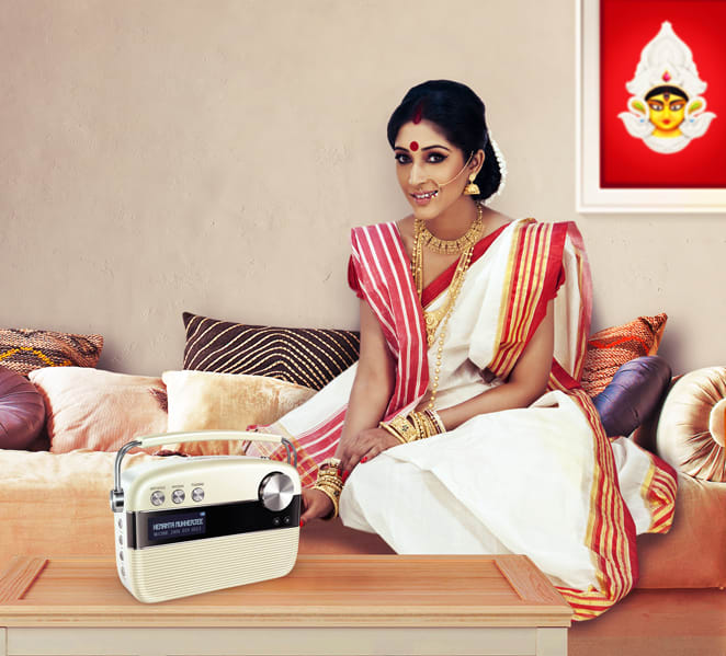 bengali wife with saregama carvaan