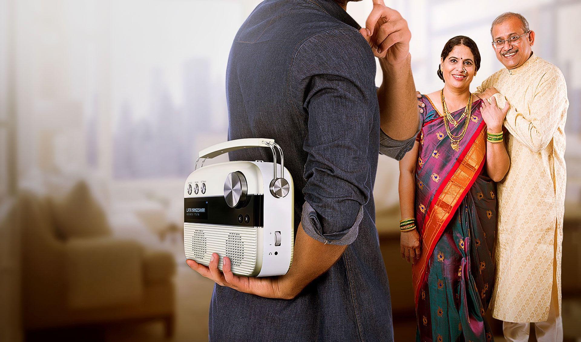 son gifting saregama marathi carvaan to parents