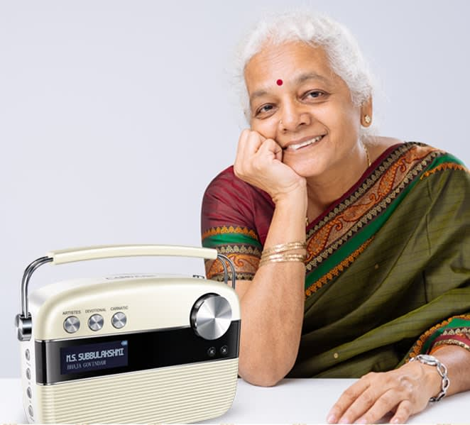 grandmother with saregama carvaan tamil