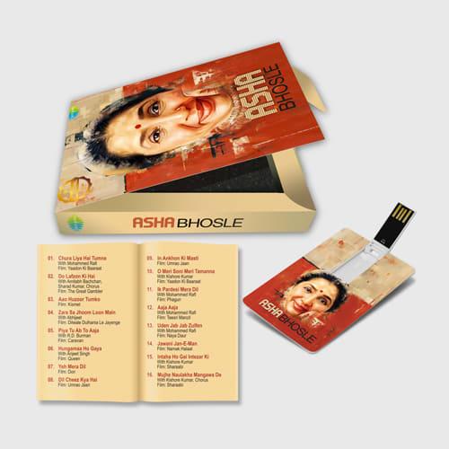 Music, Album,  Retro, Classic, Asha Bhosle, Music Card, Music Cards