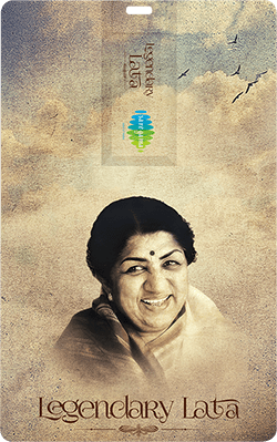 Saregama Legendary Lata  Music Card