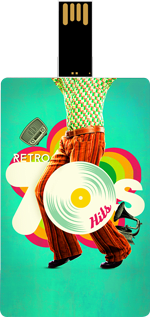 Saregama Retro 70's Hits Music Card
